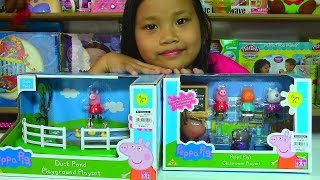 Peppa Pig Duck Pond Playground Playset Peppa Pig's Classroom Playset