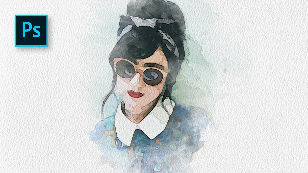 Cara Membuat Efek Lukisan Potrait Watercolor Di Shop Shop Tutorial Indonesia