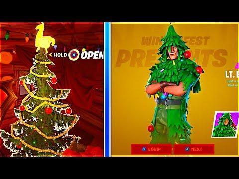 How To Get LT. EVERGREEN Skin In Fortnite Winterfest! (CHRISTMAS TREE SKIN)