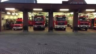Ausrücken der Feuerwehr Trittau zum Verkehrsunfall