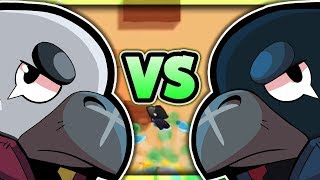 LEGENDARY CROW VS WHITE CROW! Do Skins Really Equal Wins? - Crow Showdown Gameplay! - Brawl Stars!