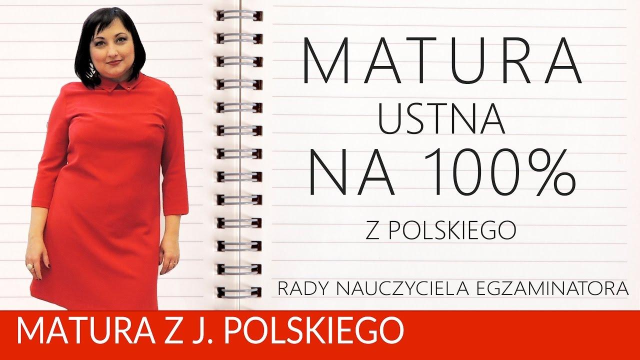 punktacja matura ustna polski