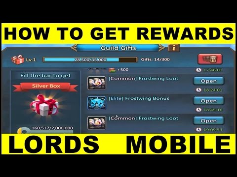 Lords Mobile Chests ● Lords Mobile Box/Chest Reward Gift Guide (Android Gameplay)
