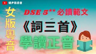 Publication Date: 2020-10-13 | Video Title: DSE範文:詞三首朗讀-念奴嬌//聲聲慢//青玉案:洗腦學習