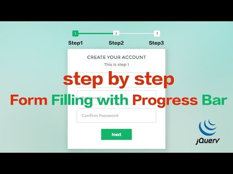 Step By Step Form Filling With Progress Bar Using JQuery And CSS3