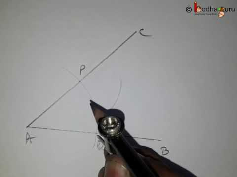 Maths - Use of compass - Bisect an angle with compass - Practical Geometry  Part 5 - Maths