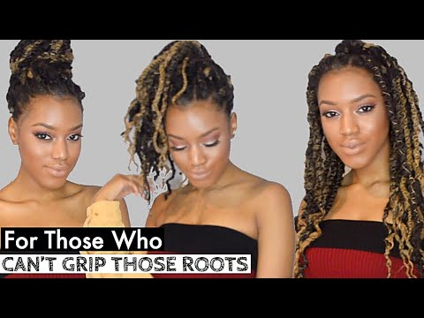 Summer NO GRIP Afro Twists BlondeBrown + Rapunzel Hair Growth  2018 Style