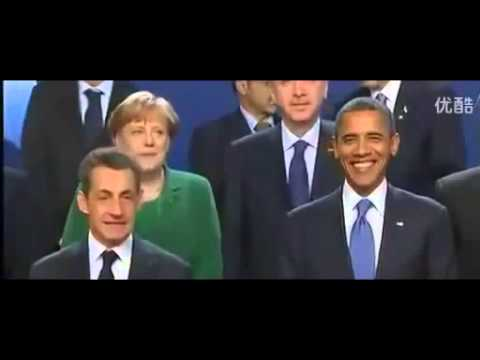 funny videos 7 Chinese President ignores French President Nicolas Sarkozy