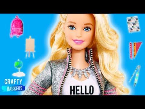 10 DIY Miniature School Supplies For Barbie