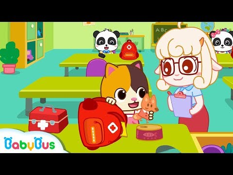 Baby Kitten Makes An Emergency Bag | Earthquake Safety Tips | Nursery Rhymes | Baby Songs | BabyBus