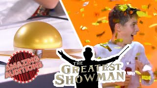 The Greatest Showman Gets The GOLDEN BUZZER!! | Amazing Auditions