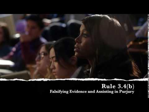 Rule 3.4(b) - Falsifying Evidence and Assisting in Perjury