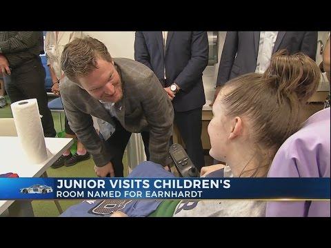 Dale Earnhardt Jr. visits Children