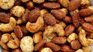 Quick Healthy Spicy Masala mixed nuts   How to Make Quick & Easy Masala Nuts