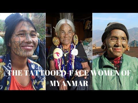 The Tattooed Face Women of Myanmar