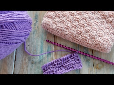 Tunisian Basket Weave Stitch - How to Crochet