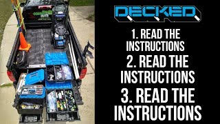How To Install DECKED Truck Bed Storage System (Girly-Man Edition)