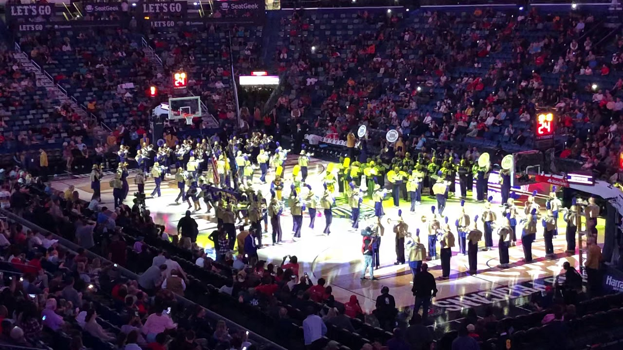 Watch St Aug Marching 100 Rock Pelicans Halftime Show