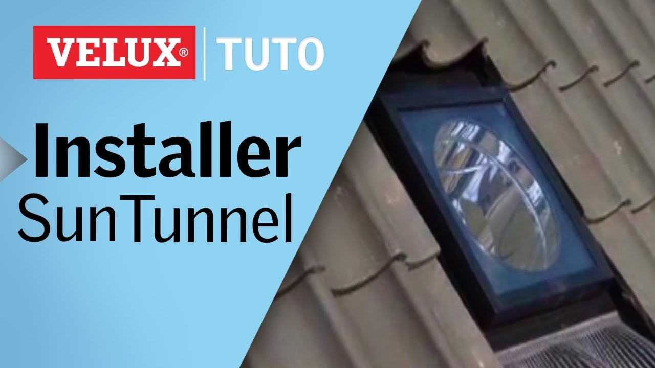 tuto comment installer un conduit de lumi re sun tunnel velux youtube. Black Bedroom Furniture Sets. Home Design Ideas