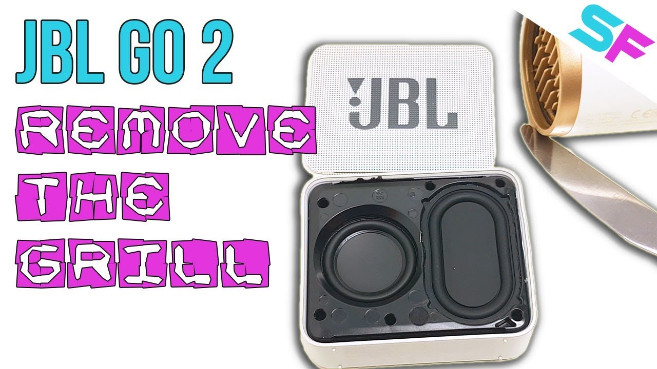 JBL Go 2 How To Remove The Speaker Grill