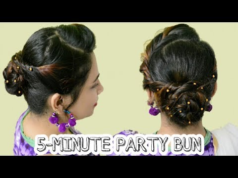5minute party bun hairstyle  easy updo hairstyles
