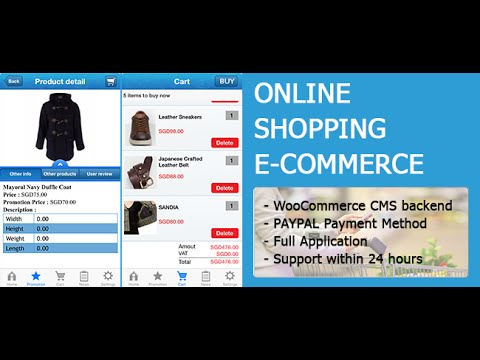 Online shopping in php source code