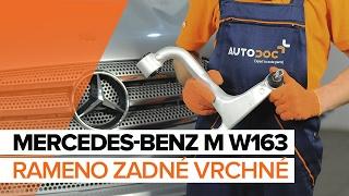 Ako vymeniť Drżiak ulożenia stabilizátora MERCEDES-BENZ M-CLASS (W163) - online zadarmo video