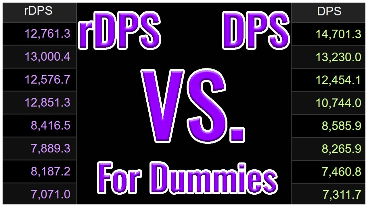 "Fflogs ffxiv � rdps vs dps for dummies - an explanation of the different types of  ""dps"" you find on fflogs"