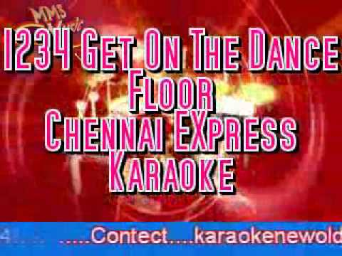 1234 get on the dance floor chennai express karaoke youtube for 1234 get on the dance floor hd video