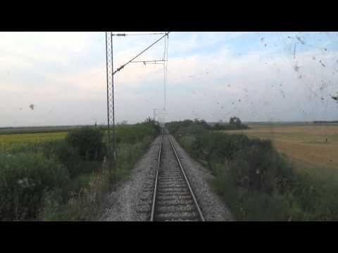 Train Driver's view: railroad in Serbia from Surcin to Batajnica  2/3 - SERBIAN RAILWAYS