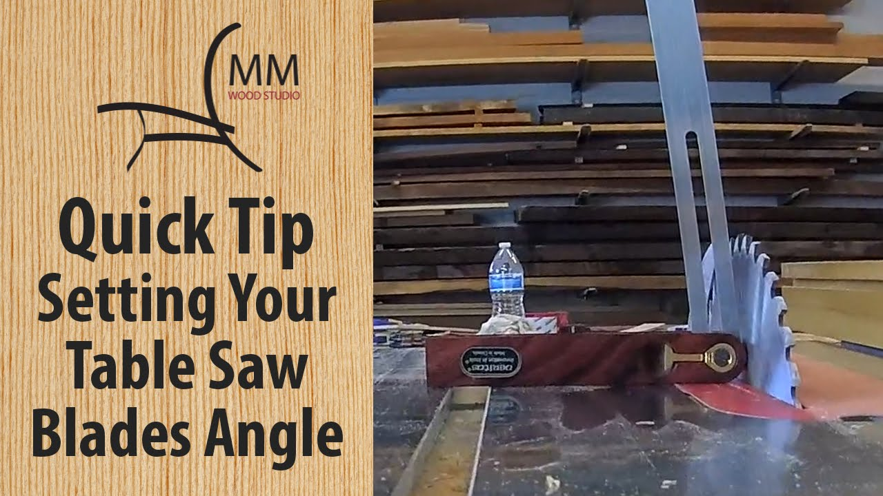 Quick tip setting your table saw blades angle youtube quick tip setting your table saw blades angle greentooth Images