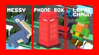 Crossy Road ALL NEW 3 SECRET CHARACTERS UNLOCK! | UK Update: Nessy, Phone Box, Leprechaun(Subscribe for more Crossy Road videos: http://bit.ly/bitstern Here's how to unlock and get ALL the NEW Crossy Road Characters of the UK and Ireland Update: ..., 2015-04-02T07:24:13.000Z)