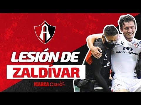 Terrible lesión de Edgar Zalvidar... ¡salió llorando del partido! | León vs Atlas | Apertura 2020