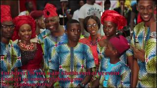See Dele Odule39s 9 Children As They Surprise Him With A Gift On His 40yrs On Stage Celebration
