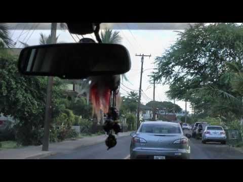 driving through Lahaina, Maui, Hawaii on Front St. and Lahainaluna Road 1080p