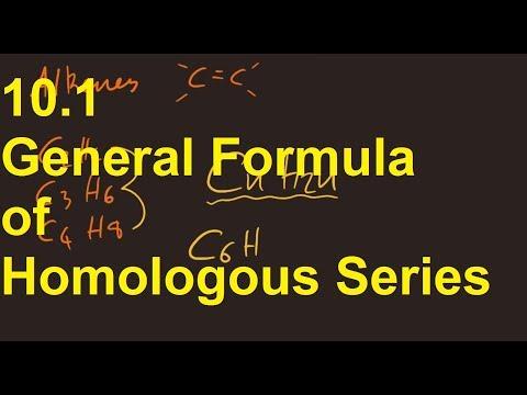 10.1 General Formula of Homologous Series [SL IB Chemistry]