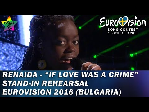 """Renaida - """"If Love Was a Crime""""- Stand-in rehearsal for Eurovision 2016 (Bulgaria)"""