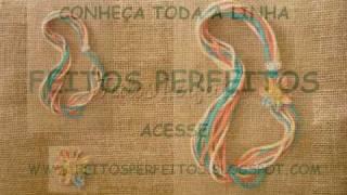 FEITOS PERFEITOS - COLARES DE TRAPILHO COM FLORES DE FUXICO - PRIMAVERA 2009