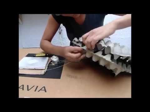 Tutorial como hacer una lampara de carton de huevo youtube - Como hacer una lampara ...