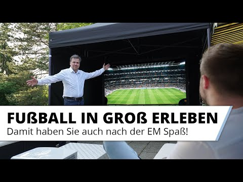 Die Fußball Europameisterschaft 2021 in Groß auf Leinwand erleben. EM 2020 zuhause oder im Garten.