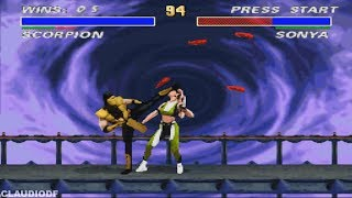 Ultimate Mortal Kombat 3 - SCORPION - (VERY HARD) - (SNES)【TAS】