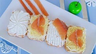 """Закуска """"брикет"""". Крекеры с семгой и сыром филадельфия. Новогодний рецепт закуски"""
