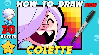 How To Draw COLETTE Icon With All 30 Voice Lines  New Brawler  Brawl Stars