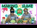 "MAKING SLIME BLINDFOLDED WITH DIFFERENT INGREDIENTS ""SISTER FOREVER"""