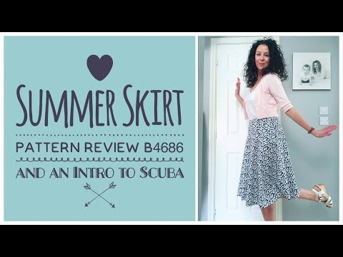 Butterick B4686 Skirt Review and an Intro to Scuba