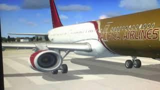 Flight simulator X       airbus a321 takeoff from dublin