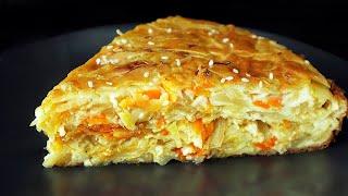 Самый вкусный капустный пирог Минимум теста максимум начинки Тает во рту