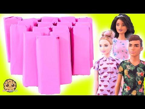 Surprise Presents ! Barbie Fashionistas Doll Haul - Cookie Swirl C Video