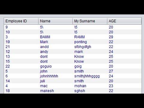 Java prog#5  JTable- Populate JTable data from database in java Netbeans  and Sqlite (mysql)