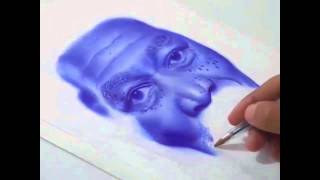 Drawing Morgan Freeman With Ballpoint Pen
